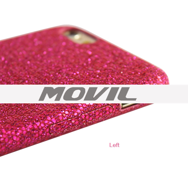NP-2588 Cuero Brillante Polvo Movil Funda Para iPhone 6 Plus-7